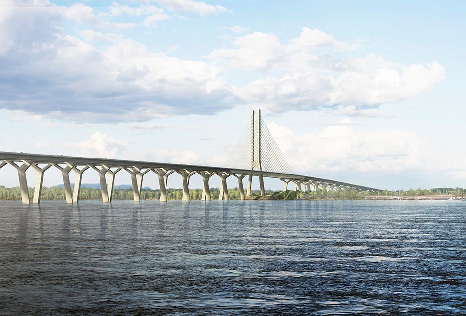 Le nouveau pont Champlain long de 3,4 kilomètres